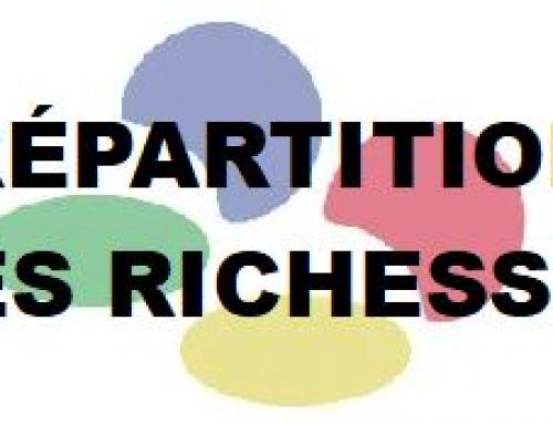 Pour une meilleure REPARTITION des richesses